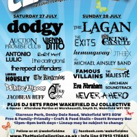 Festival Poster Featuring Dodgy & White Pigeon